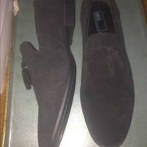 Men Black Suede Loafers